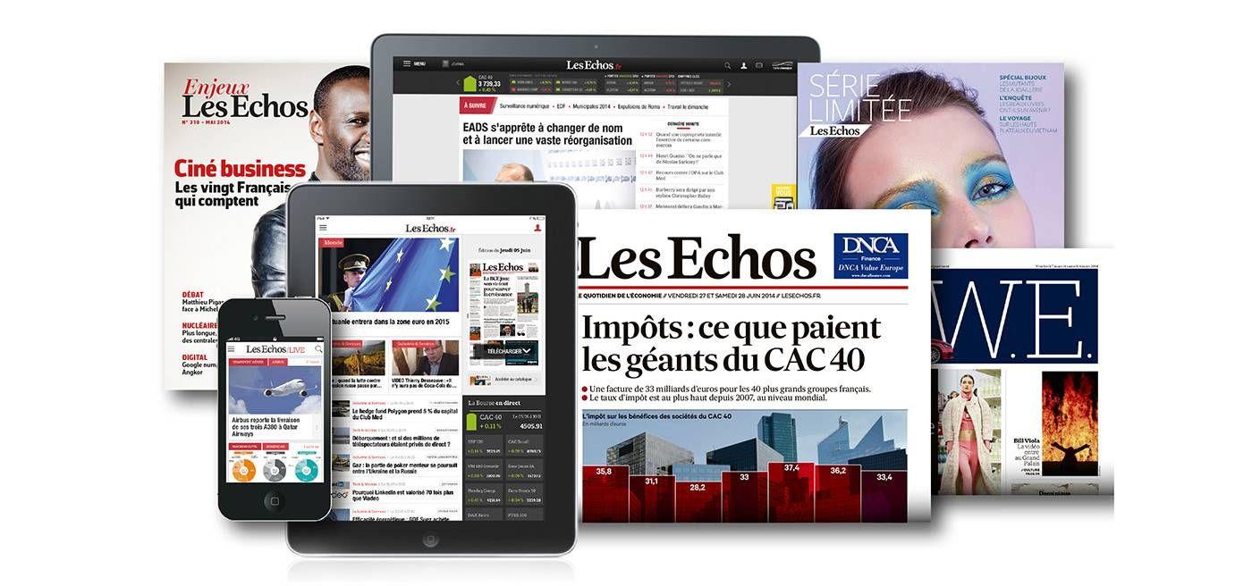 """SKINsoft  en page actu dans """"les échos"""""""